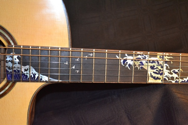 Wave Inlay Fretboard