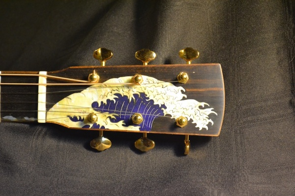 Wave Inlay Head Stock